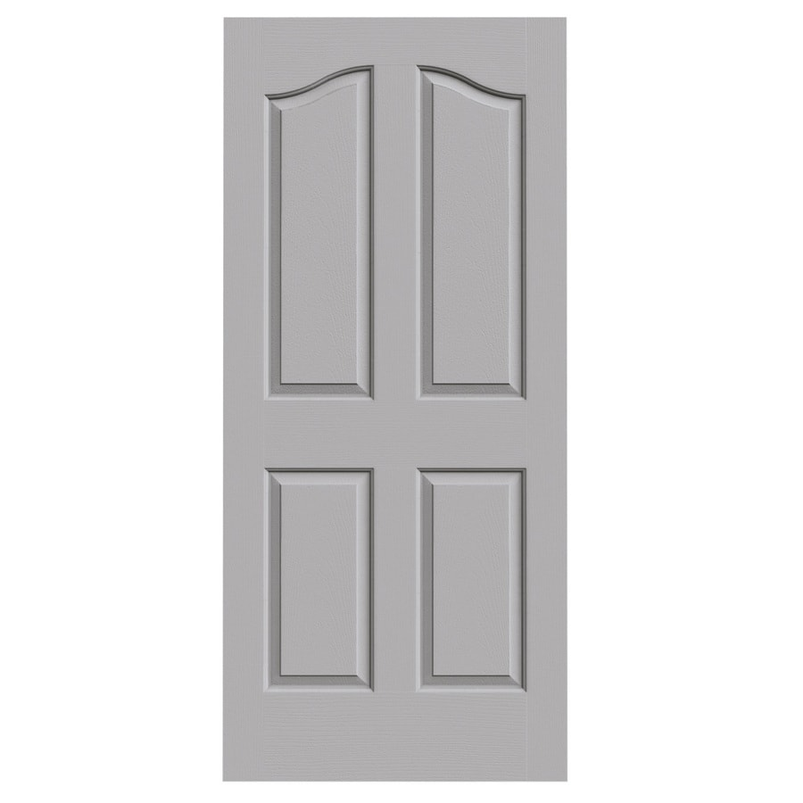 JELD-WEN Driftwood Solid Core 4-Panel Arch Top Slab Interior Door (Common: 36-in x 80-in; Actual: 36-in x 80-in)