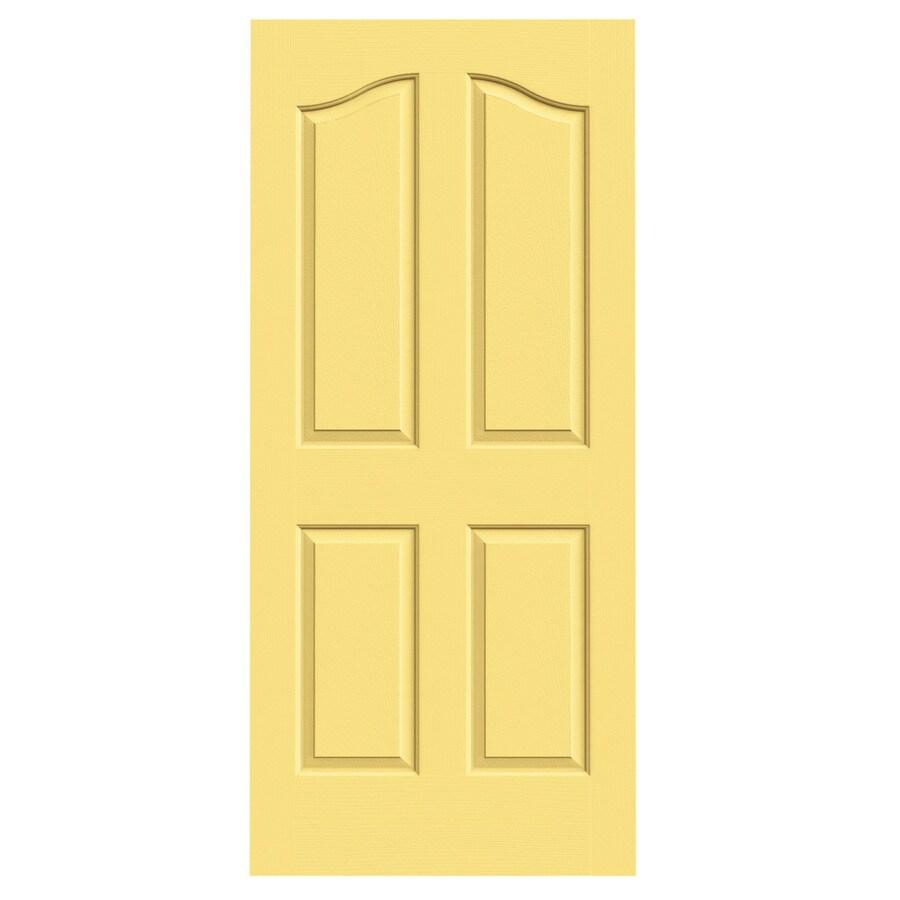 JELD-WEN Marigold Solid Core 4-Panel Arch Top Slab Interior Door (Common: 36-in x 80-in; Actual: 36-in x 80-in)