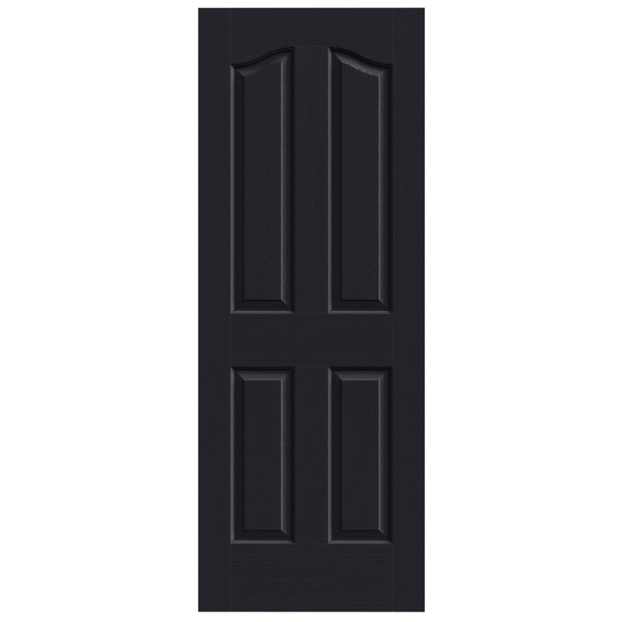 JELD-WEN Midnight Solid Core 4-Panel Arch Top Slab Interior Door (Common: 24-in x 80-in; Actual: 24-in x 80-in)