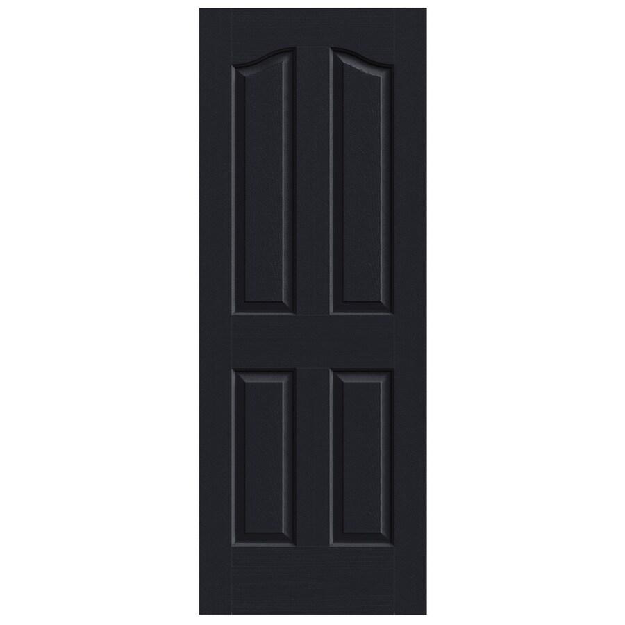 JELD-WEN Midnight Solid Core 4-Panel Arch Top Slab Interior Door (Common: 28-in x 80-in; Actual: 28-in x 80-in)