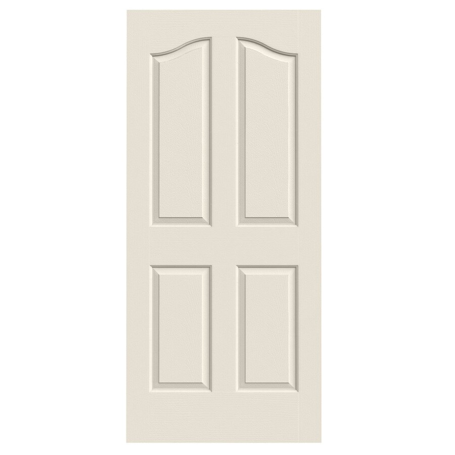 JELD-WEN Solid Core 4-Panel Arch Top Slab Interior Door (Common: 36-in x 80-in; Actual: 36-in x 80-in)