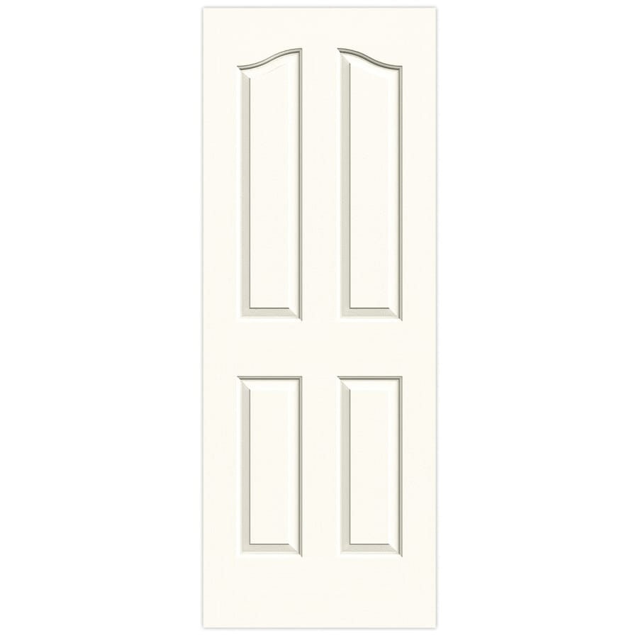 JELD-WEN White Hollow Core 4-Panel Arch Top Slab Interior Door (Common: 24-in x 80-in; Actual: 24-in x 80-in)