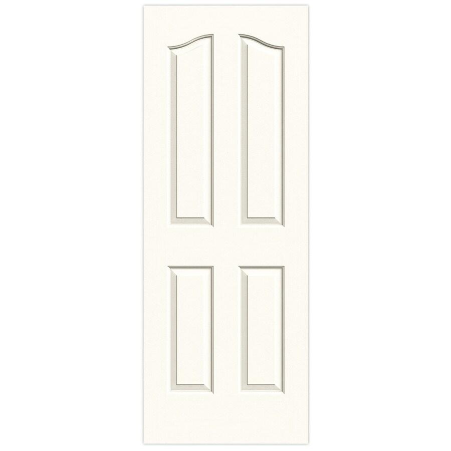JELD-WEN White Hollow Core 4-Panel Arch Top Slab Interior Door (Common: 30-in x 80-in; Actual: 30-in x 80-in)