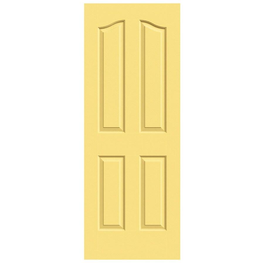 JELD-WEN Marigold Hollow Core 4-Panel Arch Top Slab Interior Door (Common: 32-in x 80-in; Actual: 32-in x 80-in)