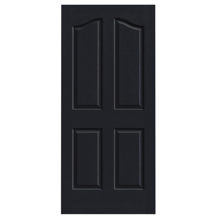JELD-WEN Midnight Hollow Core 4-Panel Arch Top Slab Interior Door (Common: 36-in x 80-in; Actual: 36-in x 80-in)