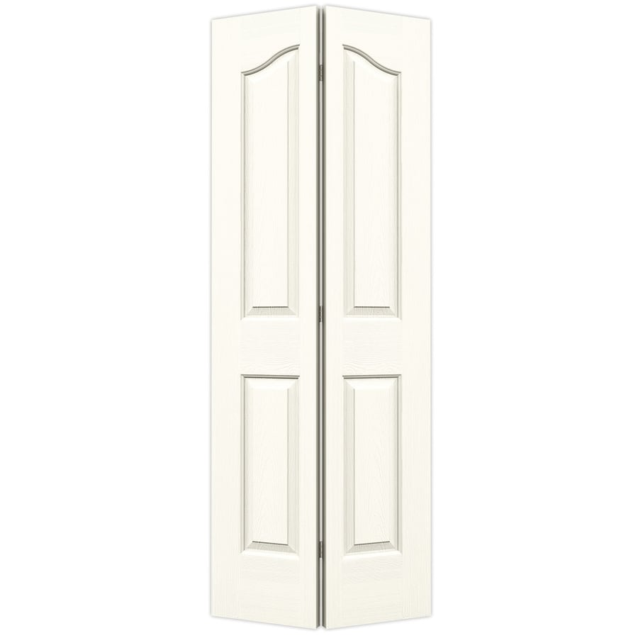 JELD-WEN White Hollow Core 4-Panel Arch Top Bi-Fold Closet Interior Door (Common: 30-in x 80-in; Actual: 29.5-in x 79-in)