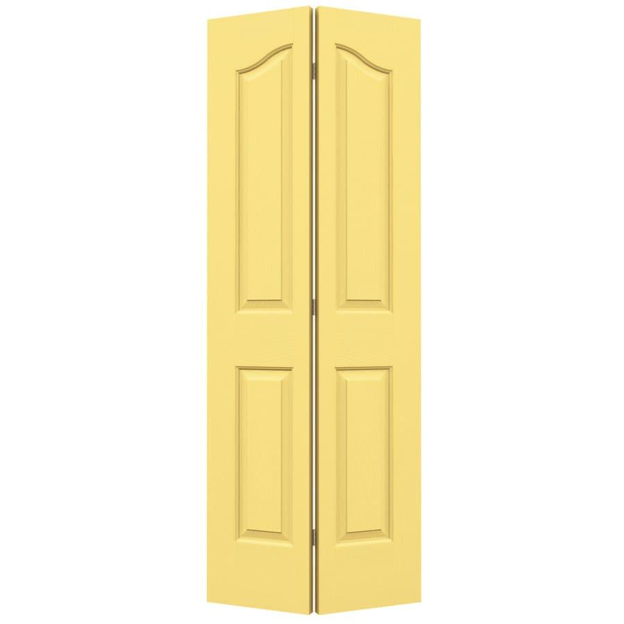 JELD-WEN Marigold Hollow Core 4-Panel Arch Top Bi-Fold Closet Interior Door (Common: 24-in x 80-in; Actual: 23.5-in x 79-in)
