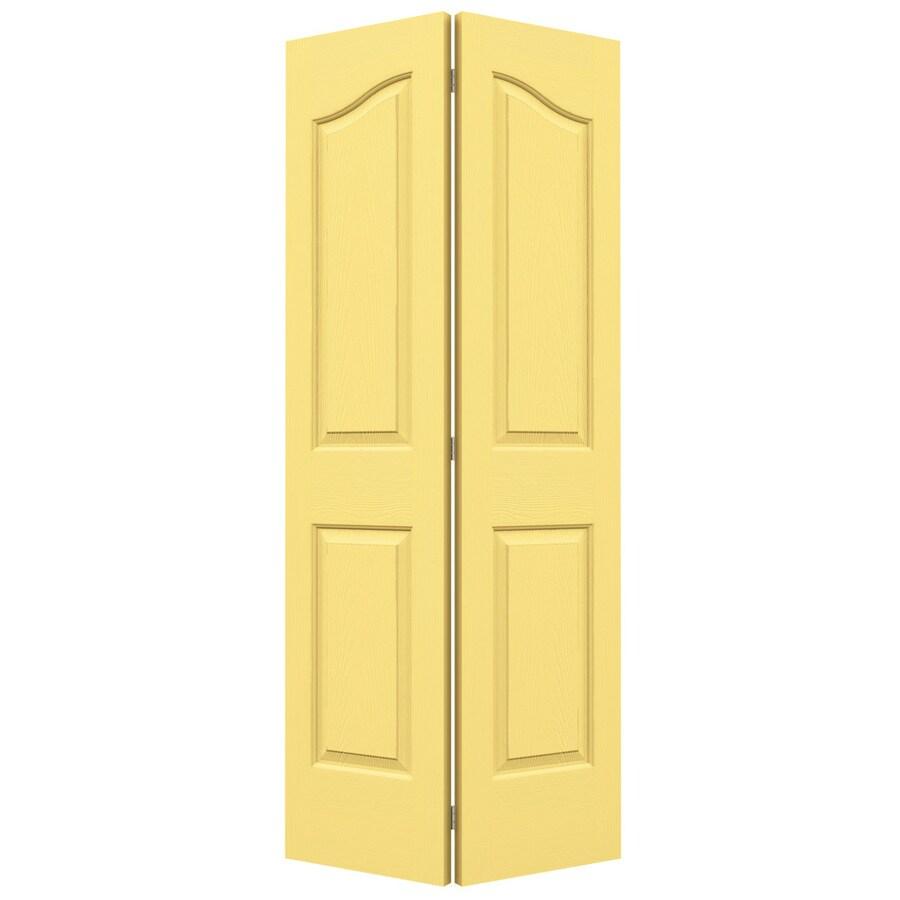 JELD-WEN Marigold Hollow Core 4-Panel Arch Top Bi-Fold Closet Interior Door (Common: 36-in x 80-in; Actual: 35.5-in x 79-in)