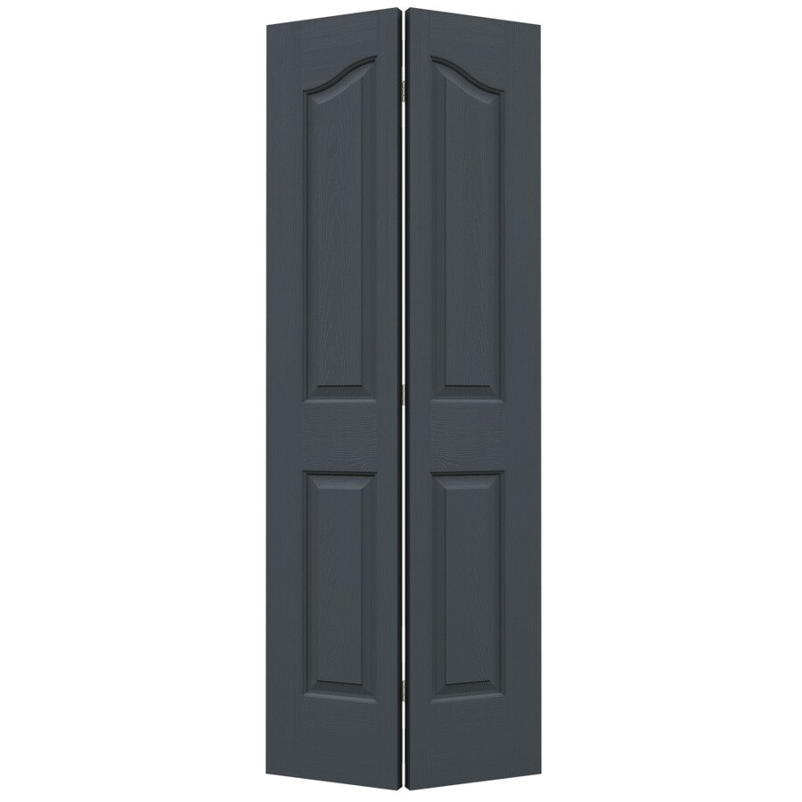 JELD-WEN Slate Hollow Core 4-Panel Arch Top Bi-Fold Closet Interior Door (Common: 24-in x 80-in; Actual: 23.5-in x 79-in)