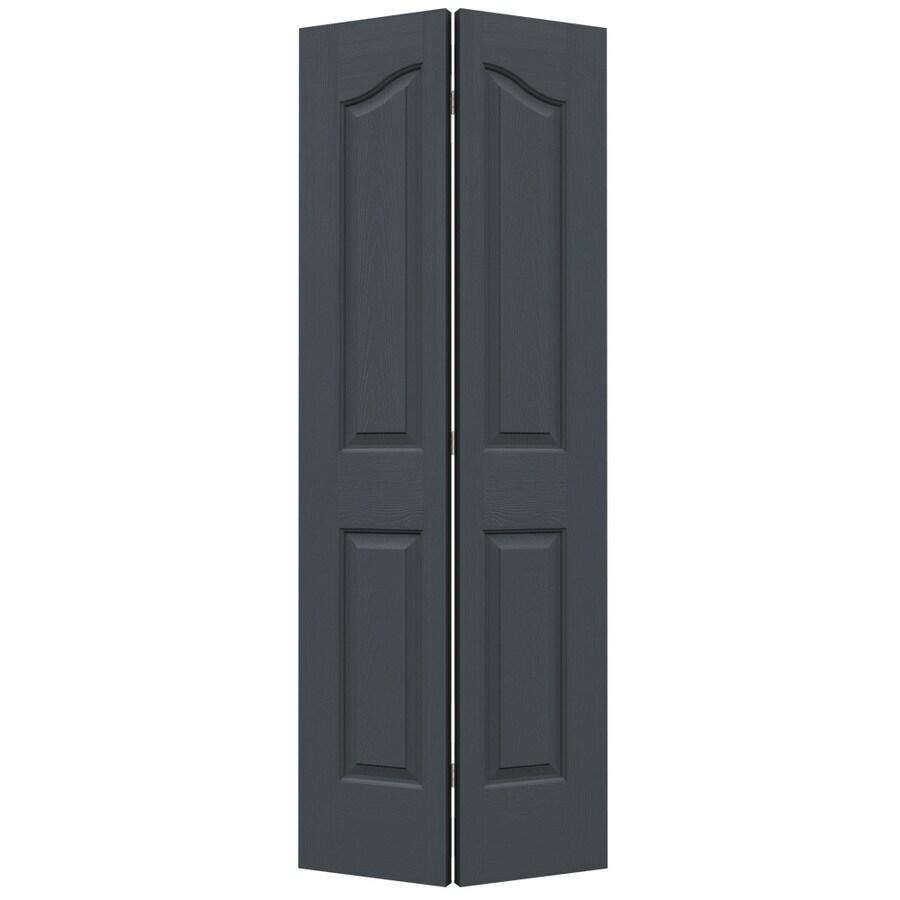 JELD-WEN Slate Hollow Core 4-Panel Arch Top Bi-Fold Closet Interior Door (Common: 32-in x 80-in; Actual: 31.5-in x 79-in)