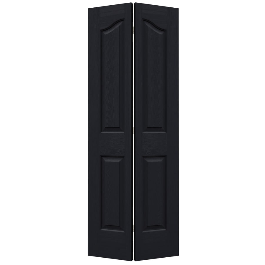 JELD-WEN Midnight Hollow Core 4-Panel Arch Top Bi-Fold Closet Interior Door (Common: 30-in x 80-in; Actual: 29.5-in x 79-in)