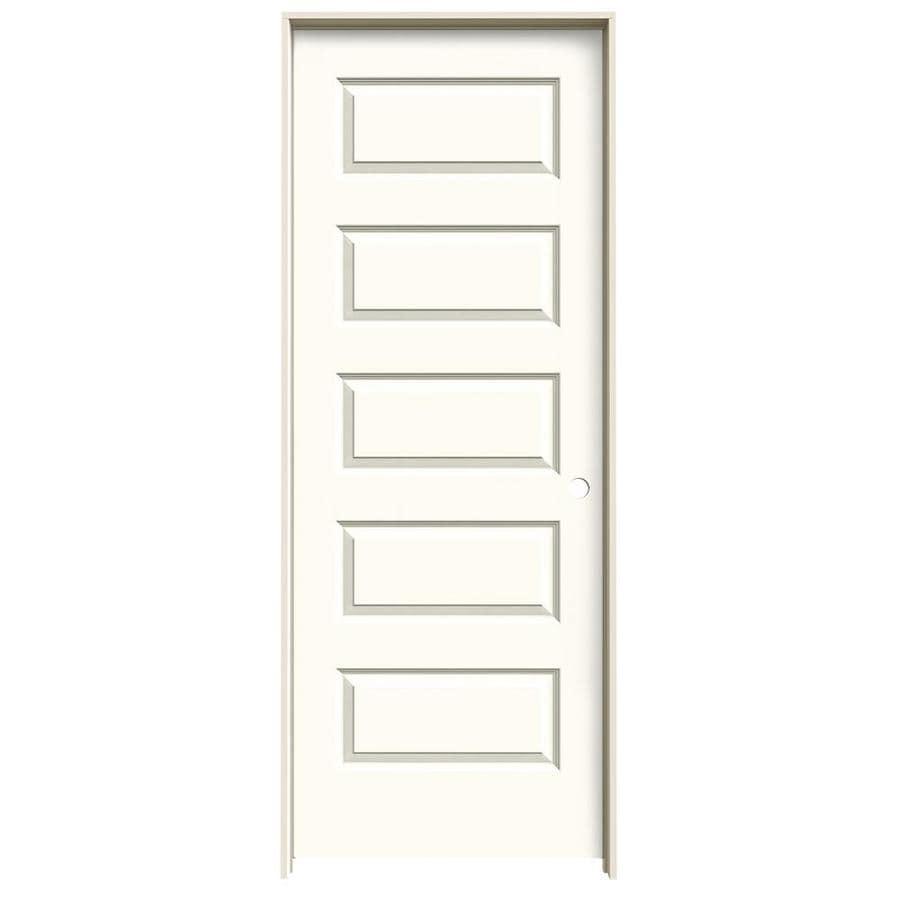 JELD-WEN White Prehung Solid Core 5-Panel Equal Interior Door (Common: 30-in x 80-in; Actual: 31.562-in x 81.688-in)