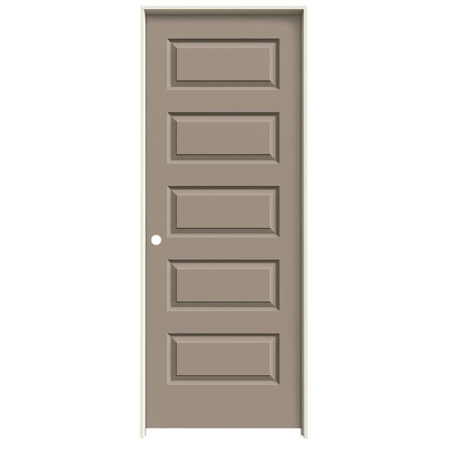 JELD-WEN Sand Piper Prehung Solid Core 5-Panel Equal Interior Door (Common: 28-in x 80-in; Actual: 29.562-in x 81.688-in)