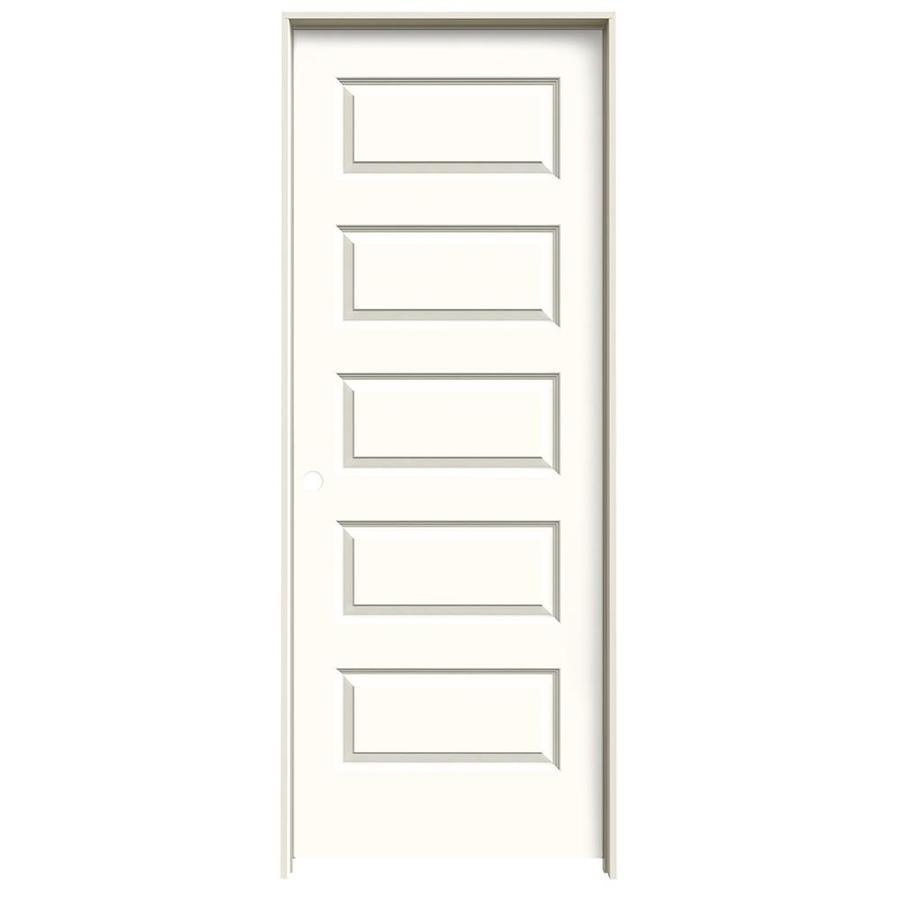JELD-WEN Moonglow Prehung Hollow Core 5-Panel Equal Interior Door (Common: 32-in x 80-in; Actual: 33.562-in x 81.688-in)