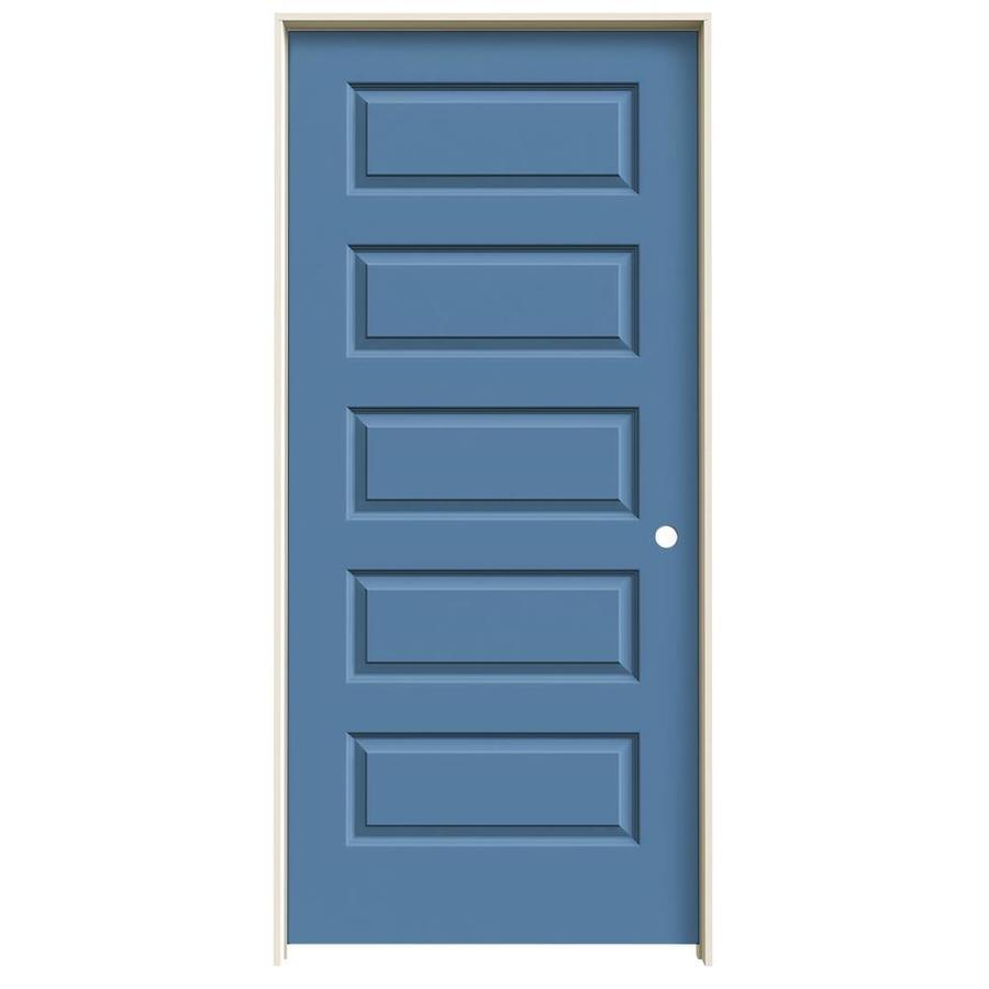 JELD-WEN Blue Heron Prehung Hollow Core 5-Panel Equal Interior Door (Common: 36-in x 80-in; Actual: 37.562-in x 81.688-in)