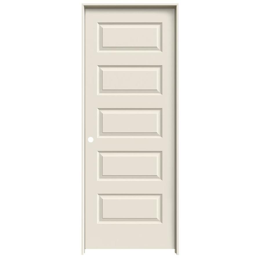 JELD-WEN Prehung Hollow Core 5-Panel Equal Interior Door (Common: 32-in x 80-in; Actual: 33.562-in x 81.688-in)