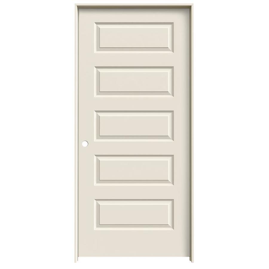 JELD-WEN Prehung Hollow Core 5-Panel Equal Interior Door (Common: 36-in x 80-in; Actual: 37.562-in x 81.688-in)
