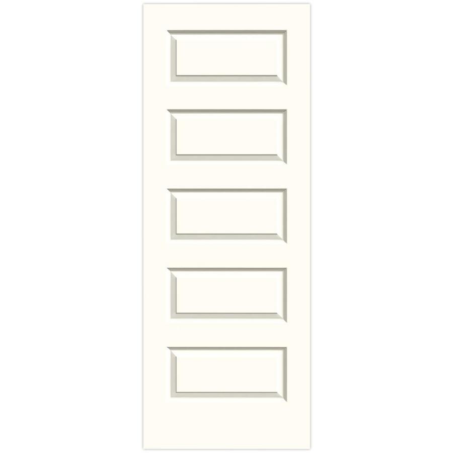 JELD-WEN Moonglow Solid Core 5-Panel Equal Slab Interior Door (Common: 28-in x 80-in; Actual: 28-in x 80-in)