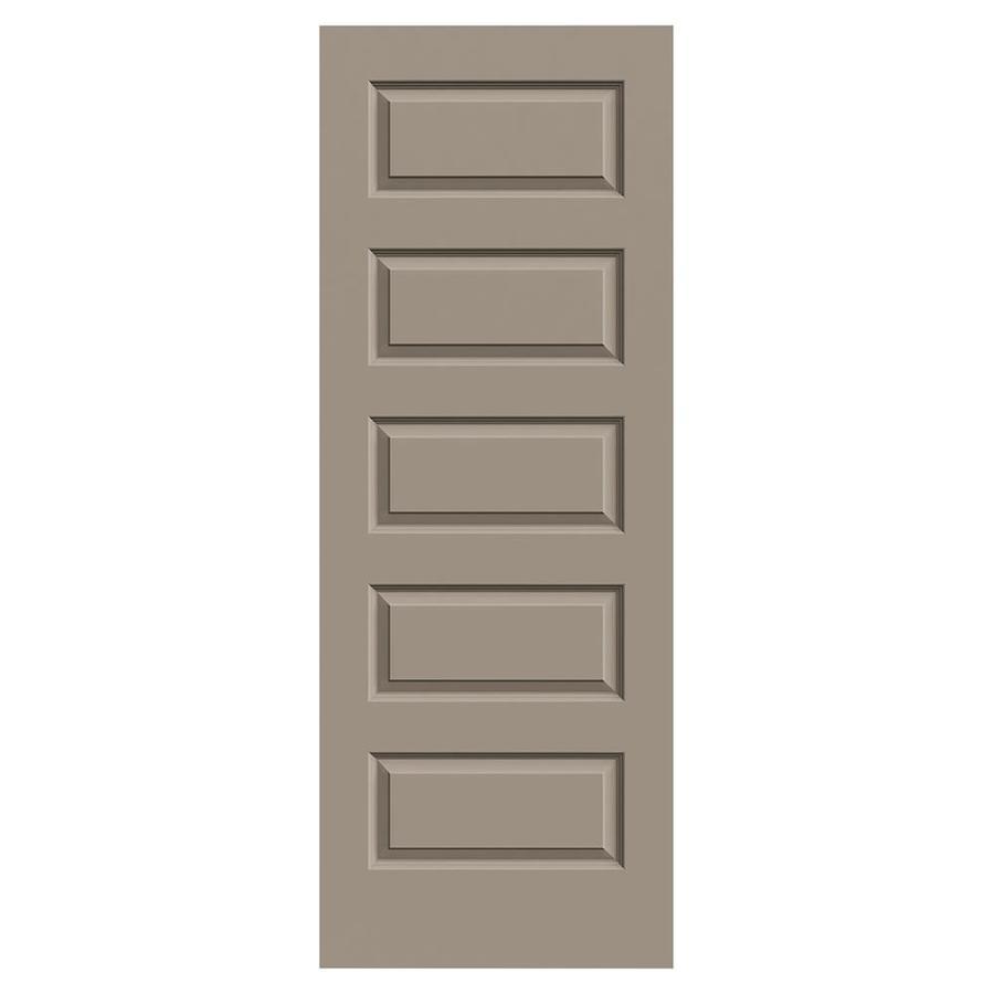 JELD-WEN Sand Piper Solid Core 5-Panel Equal Slab Interior Door (Common: 24-in x 80-in; Actual: 24-in x 80-in)