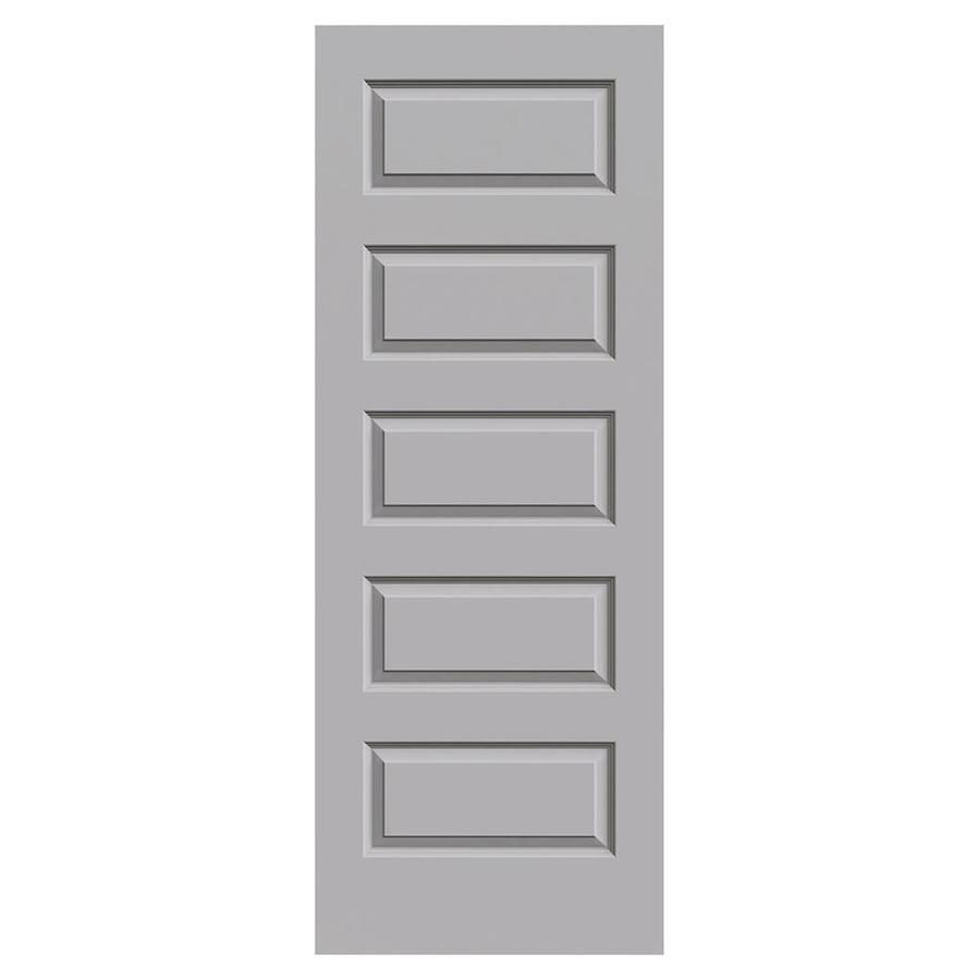 JELD-WEN Driftwood Solid Core 5-Panel Equal Slab Interior Door (Common: 24-in x 80-in; Actual: 24-in x 80-in)