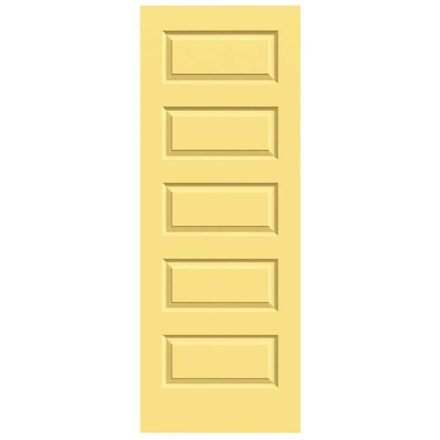 JELD-WEN Marigold Solid Core 5-Panel Equal Slab Interior Door (Common: 32-in x 80-in; Actual: 32-in x 80-in)