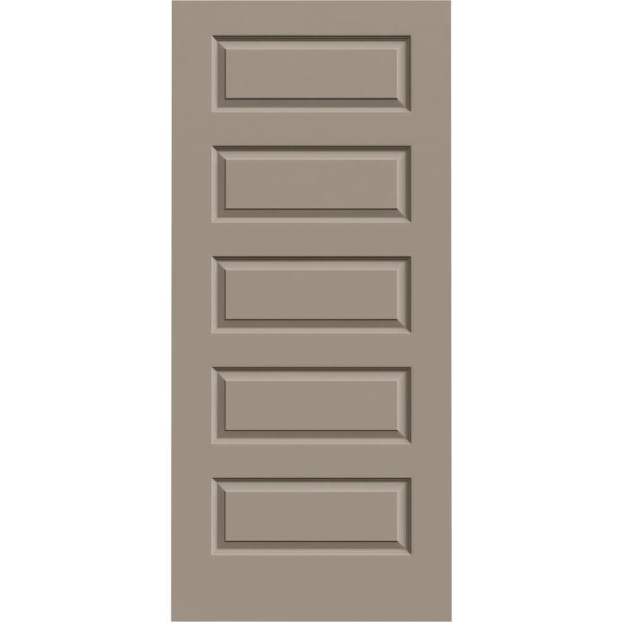 JELD-WEN Sand Piper Hollow Core 5-Panel Equal Slab Interior Door (Common: 36-in x 80-in; Actual: 36-in x 80-in)