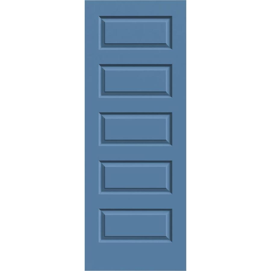 JELD-WEN Blue Heron Hollow Core 5-Panel Equal Slab Interior Door (Common: 32-in x 80-in; Actual: 32-in x 80-in)