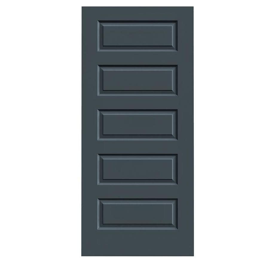 JELD-WEN Slate Hollow Core 5-Panel Equal Slab Interior Door (Common: 36-in x 80-in; Actual: 36-in x 80-in)