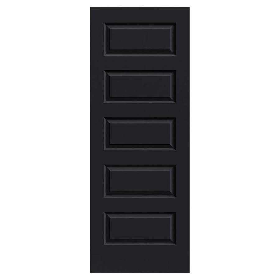 JELD-WEN Midnight Hollow Core 5-Panel Equal Slab Interior Door (Common: 24-in x 80-in; Actual: 24-in x 80-in)