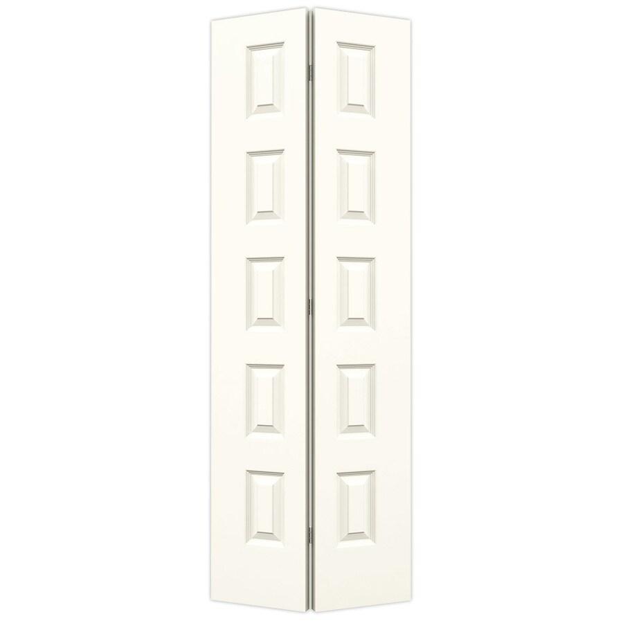 JELD-WEN White Hollow Core 5-Panel Equal Bi-Fold Closet Interior Door (Common: 28-in x 80-in; Actual: 27.5-in x 79-in)