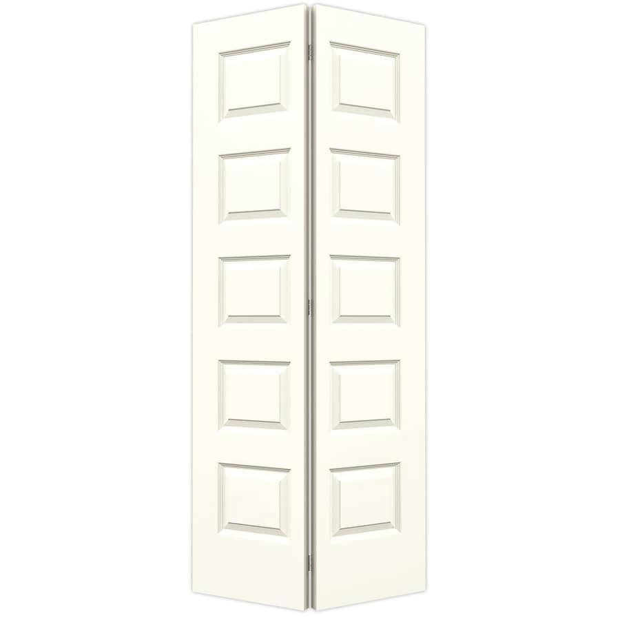 JELD-WEN Moonglow Hollow Core 5-Panel Equal Bi-Fold Closet Interior Door (Common: 36-in x 80-in; Actual: 35.5-in x 79-in)