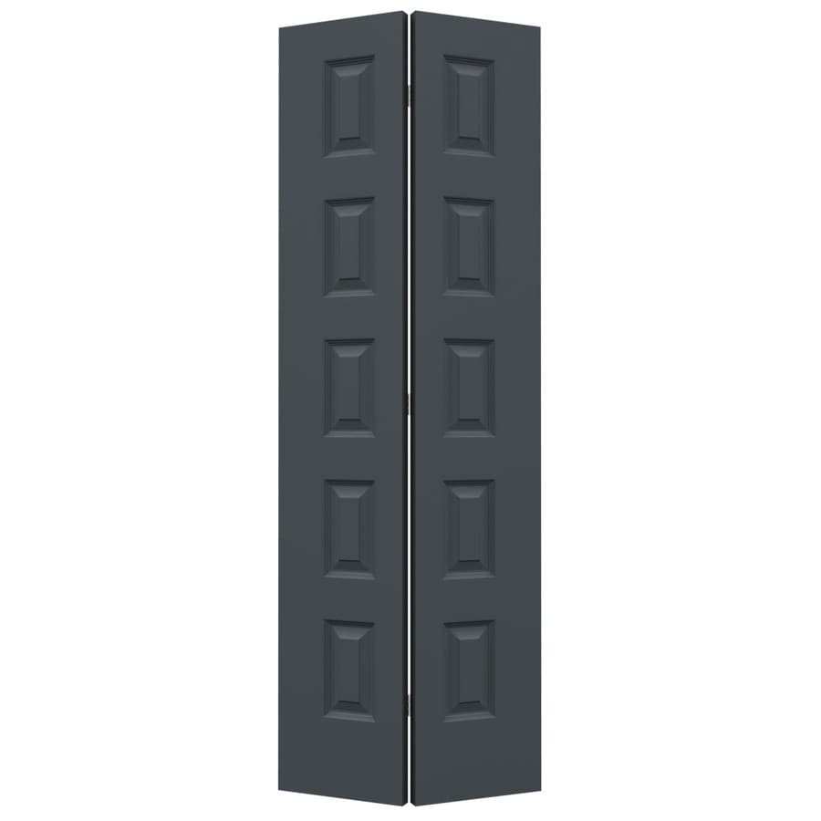 JELD-WEN Slate Hollow Core 5-Panel Equal Bi-Fold Closet Interior Door (Common: 28-in x 80-in; Actual: 27.5-in x 79-in)