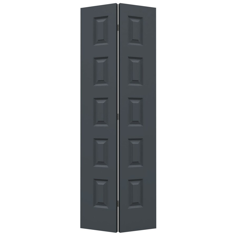 JELD-WEN Slate Hollow Core 5-Panel Equal Bi-Fold Closet Interior Door (Common: 30-in x 80-in; Actual: 29.5-in x 79-in)