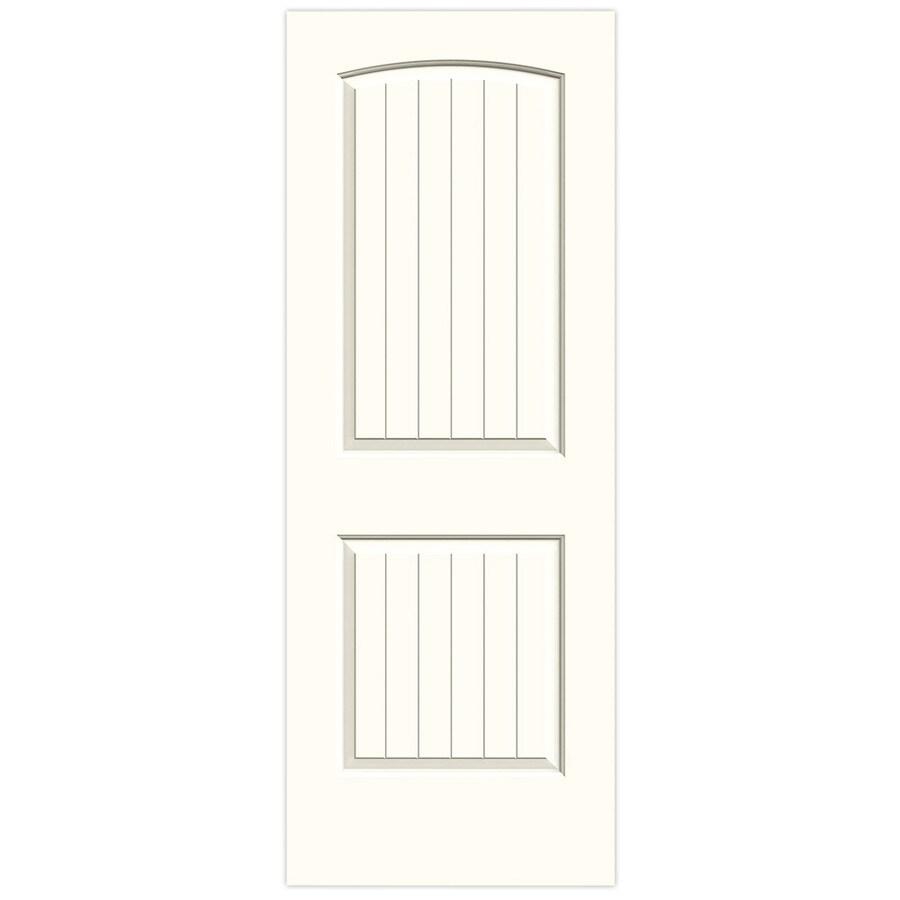 JELD-WEN Moonglow Hollow Core 2-Panel Round Top Plank Slab Interior Door (Common: 30-in x 80-in; Actual: 30-in x 80-in)