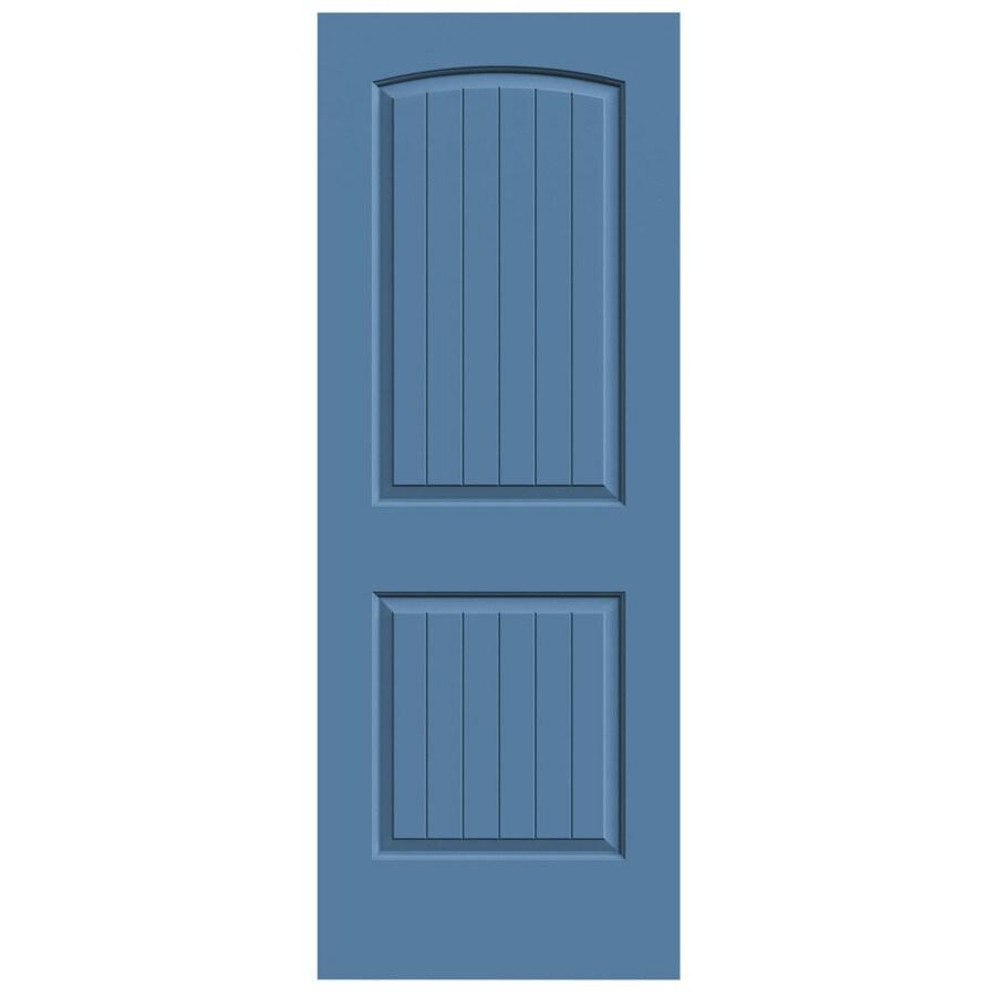 JELD-WEN Blue Heron Hollow Core 2-Panel Round Top Plank Slab Interior Door (Common: 30-in x 80-in; Actual: 30-in x 80-in)