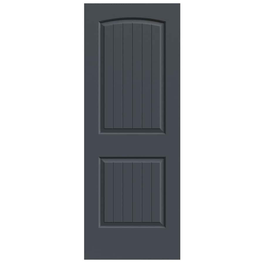 JELD-WEN Slate Hollow Core 2-Panel Round Top Plank Slab Interior Door (Common: 28-in x 80-in; Actual: 28-in x 80-in)