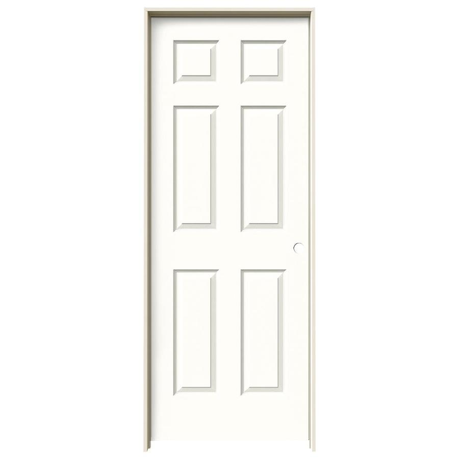 JELD-WEN Snow Storm Prehung Hollow Core 1-Panel Square Interior Door (Actual: 81.688-in x 29.562-in)
