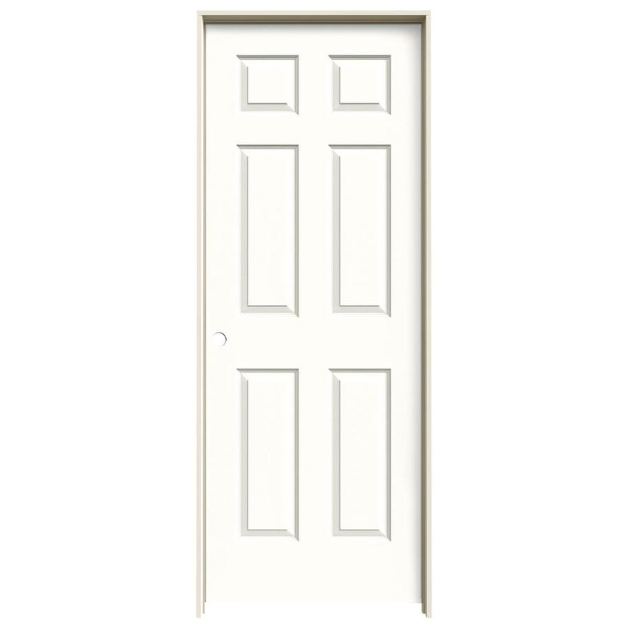 JELD-WEN Snow Storm Prehung Hollow Core 1-Panel Square Interior Door (Actual: 81.688-in x 33.562-in)