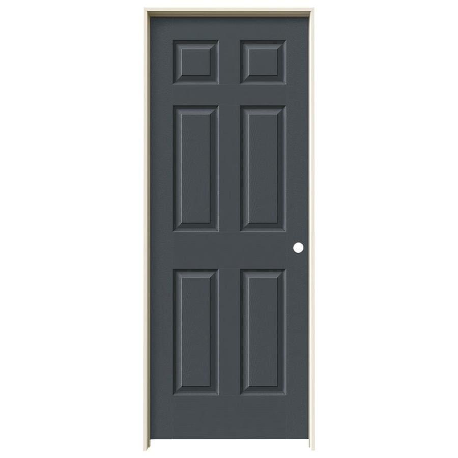 JELD-WEN Slate Prehung Hollow Core 1-Panel Square Interior Door (Actual: 81.688-in x 33.562-in)