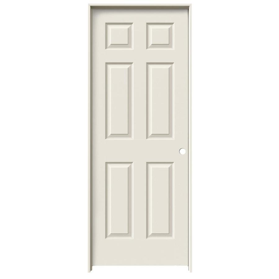 JELD-WEN Prehung Hollow Core 1-Panel Square Interior Door (Actual: 81.688-in x 31.562-in)
