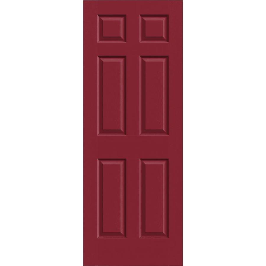 JELD-WEN Barn Red Hollow Core 1-Panel Square Mirror Slab Interior Door (Common: 24-in x 80-in; Actual: 24-in x 80-in)