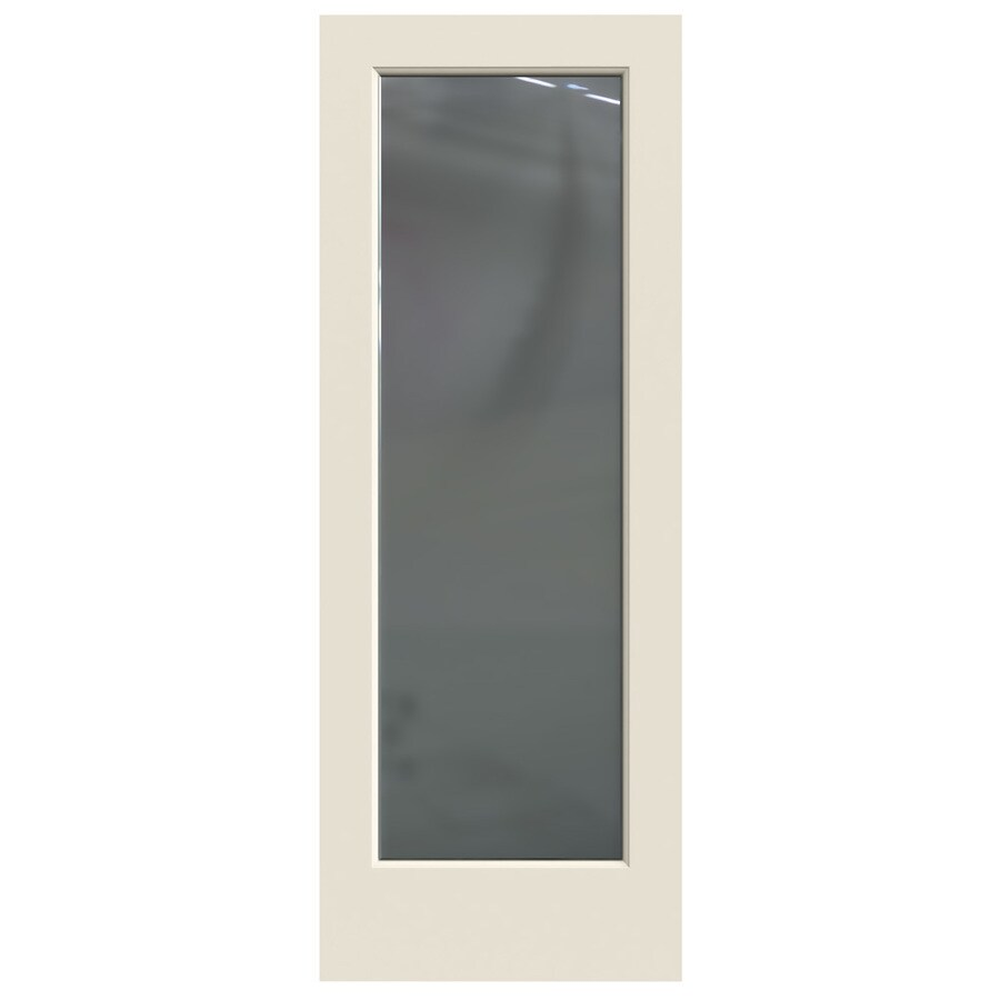 JELD-WEN Hollow Core 1-Panel Square Mirror Slab Interior Door (Common: 30-in x 80-in; Actual: 30-in x 80-in)