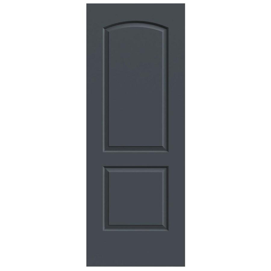 JELD-WEN Slate Hollow Core 2-Panel Round Top Slab Interior Door (Common: 24-in x 80-in; Actual: 24-in x 80-in)