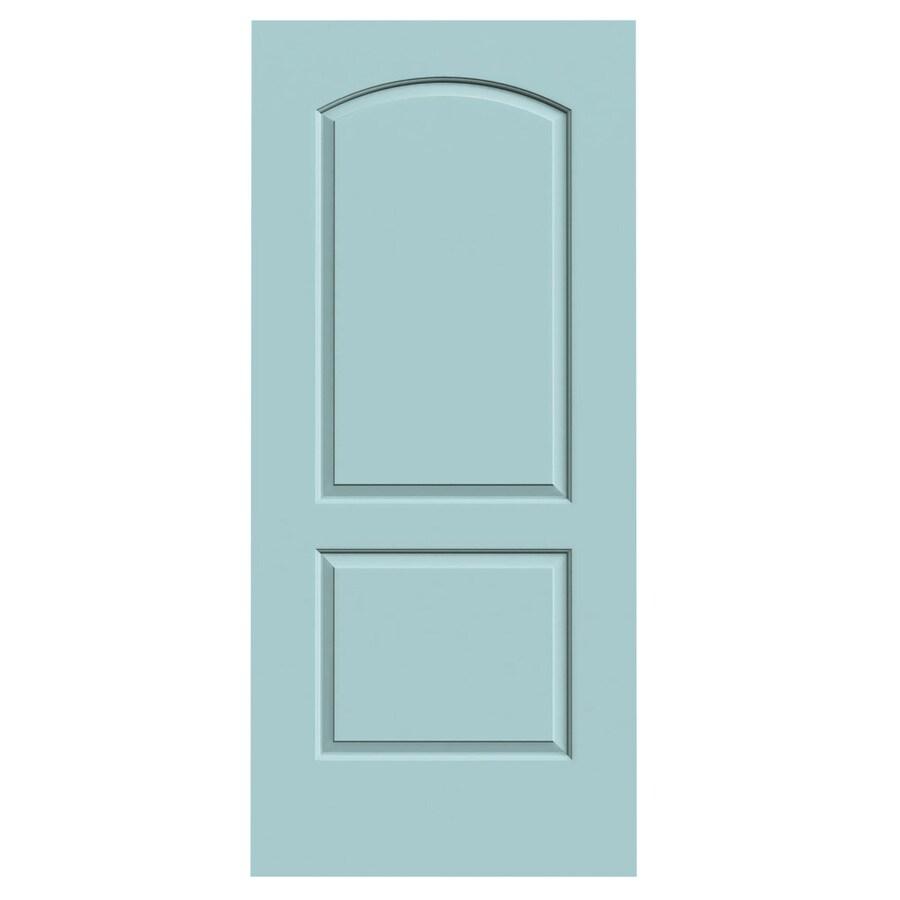 JELD-WEN Sea Mist Hollow Core 2-Panel Round Top Slab Interior Door (Common: 36-in x 80-in; Actual: 36-in x 80-in)