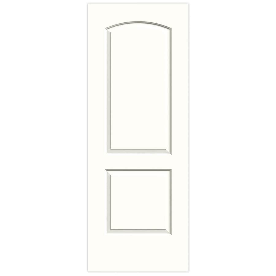 JELD-WEN Snow Storm Hollow Core 2-Panel Round Top Slab Interior Door (Common: 28-in x 80-in; Actual: 28-in x 80-in)