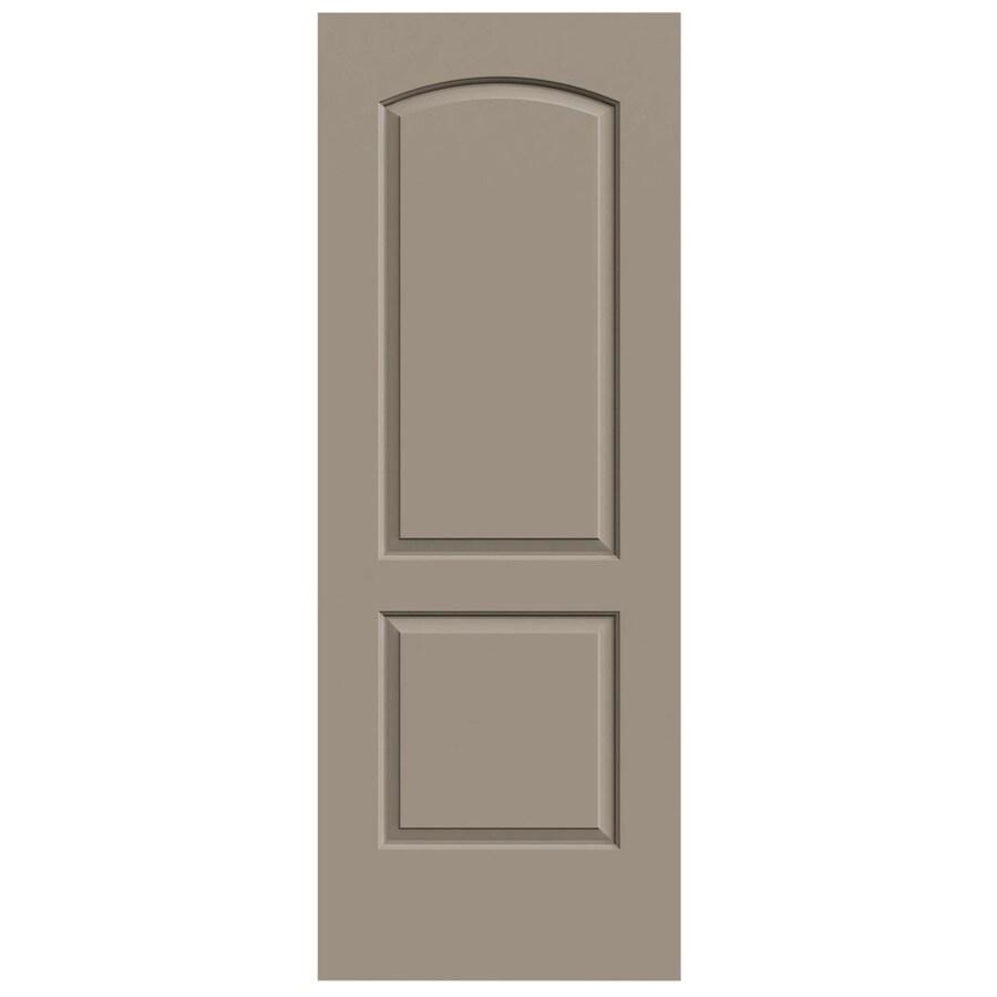 JELD-WEN Sand Piper Hollow Core 2-Panel Round Top Slab Interior Door (Common: 30-in x 80-in; Actual: 30-in x 80-in)