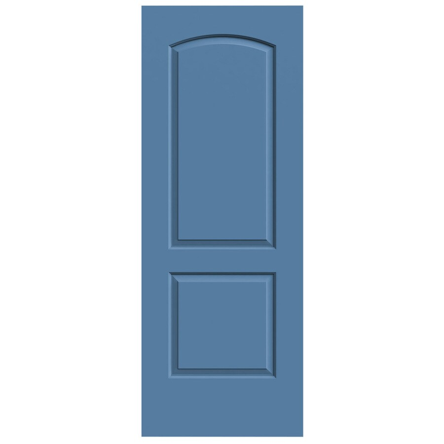 JELD-WEN Blue Heron Solid Core 2-Panel Round Top Slab Interior Door (Common: 24-in x 80-in; Actual: 24-in x 80-in)
