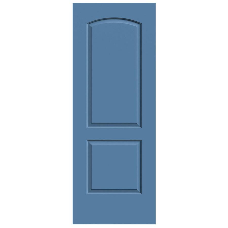 JELD-WEN Blue Heron Solid Core 2-Panel Round Top Slab Interior Door (Common: 32-in x 80-in; Actual: 32-in x 80-in)