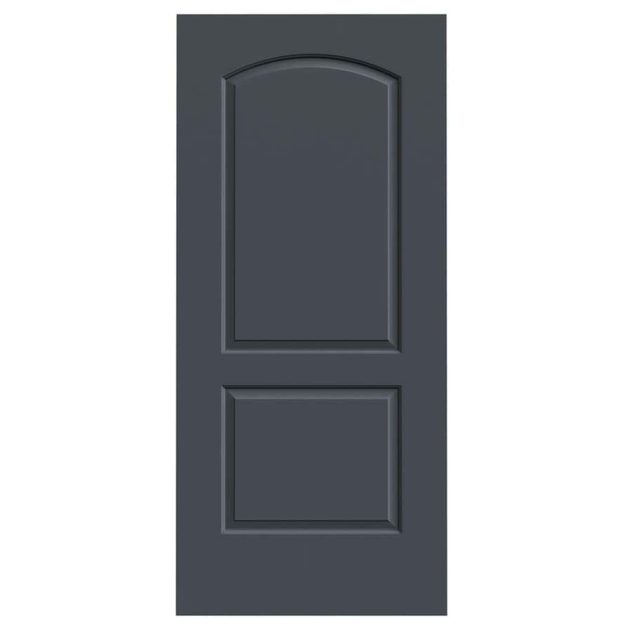 JELD-WEN Slate Solid Core 2-Panel Round Top Slab Interior Door (Common: 36-in x 80-in; Actual: 36-in x 80-in)