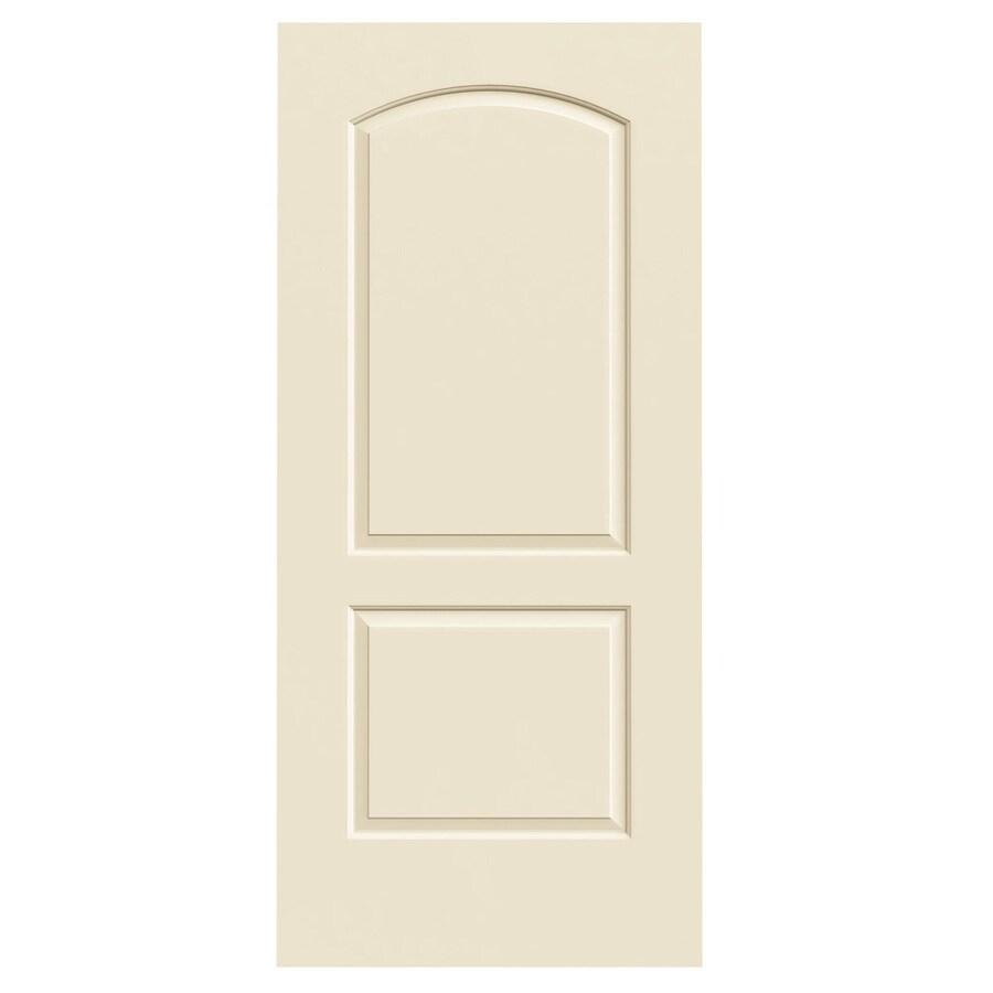JELD-WEN Cream-N-Sugar Solid Core 2-Panel Round Top Slab Interior Door (Common: 36-in x 80-in; Actual: 36-in x 80-in)